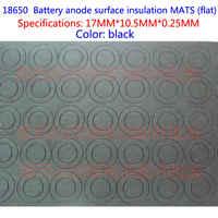 100 stücke Die lithium-batterie schnelle Pakistanischen papier isolierung blatt 18650 flache oberfläche der isolierung pad schwarz einzigen mehrere