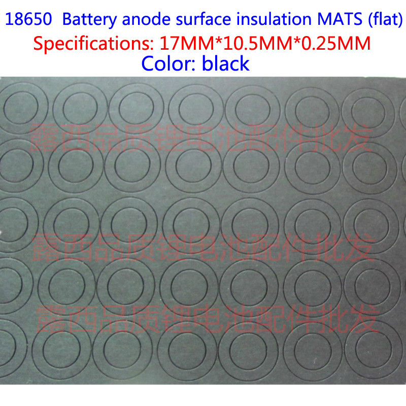 18650 Lithium Battery Insulation Gasket Paper Pakistan Fast Insulating Film 18650 Flat Surface Pad Insulation Pad Black Sticker