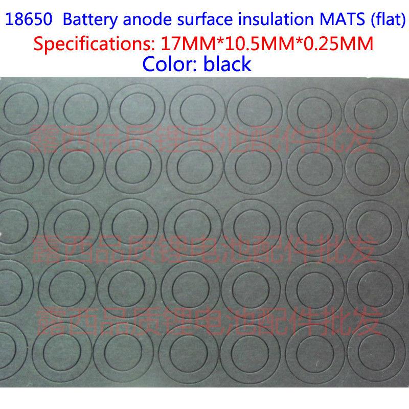 18650 lithium battery insulation gasket paper Pakistan fast insulating film 18650 flat surface pad insulation pad black sticker