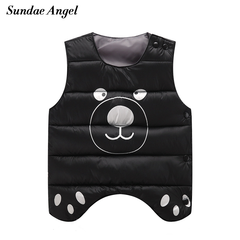 Sundae Angel Kids Baby Girl Vest Print Pattern Cotton Outerwear Coat Boy Down Jacket Waistcoat Colete infantil Children Clothing цена