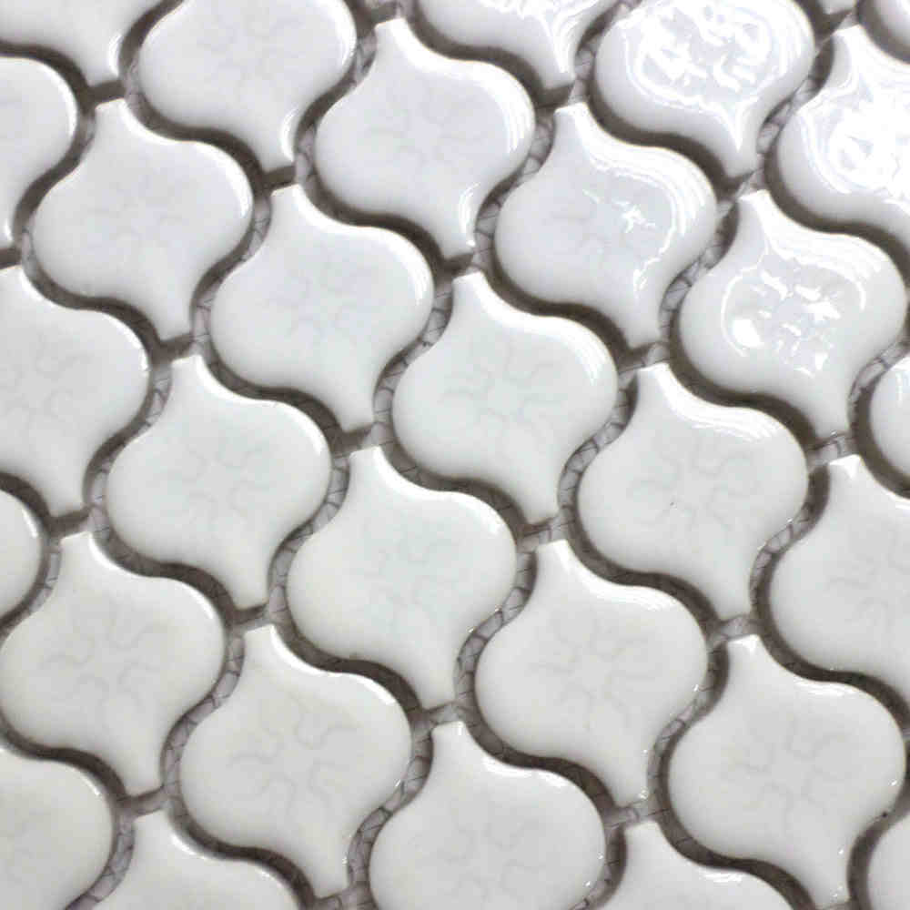 white color pebble ceramic tiles for bathroom shower floor tiles ...