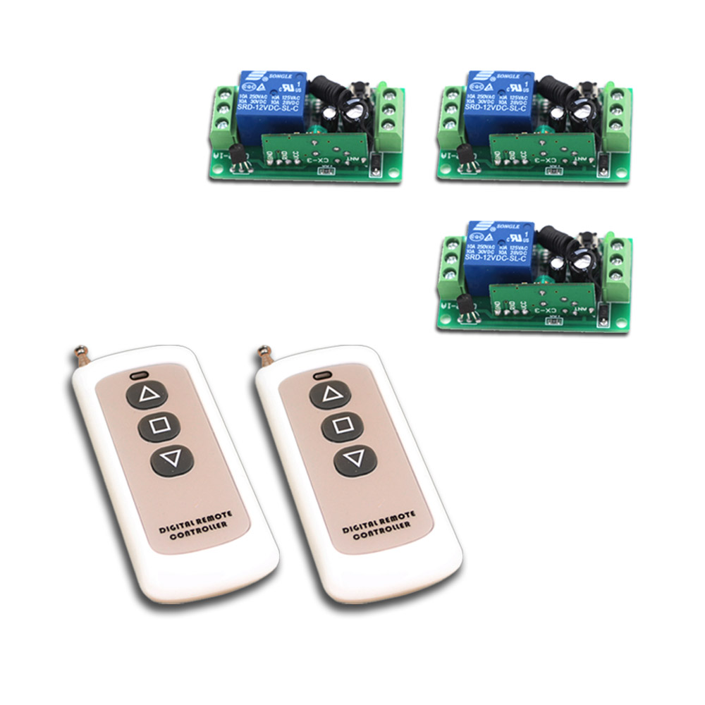 Hot sale Wireless Remote Control Switch Remote Controller 1CH 10A Relay Receiver Transmitter 315/433Mhz DC9V 12V 24V for Choose dc 12v rf wireless switch remote control switch 10a 1ch receiver mini relay wall transmitter for light motor gate 315 433mhz