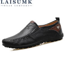 LAISUMK Soft Leather Men Loafers New Handmade Casual Shoes Men Moccasins For Men Comforable Leather Flat Shoes big size 38-47 leather men loafers shoes comfortable casual shoes men spring autumn black soft sole driving flat shoes blue big size 38 47