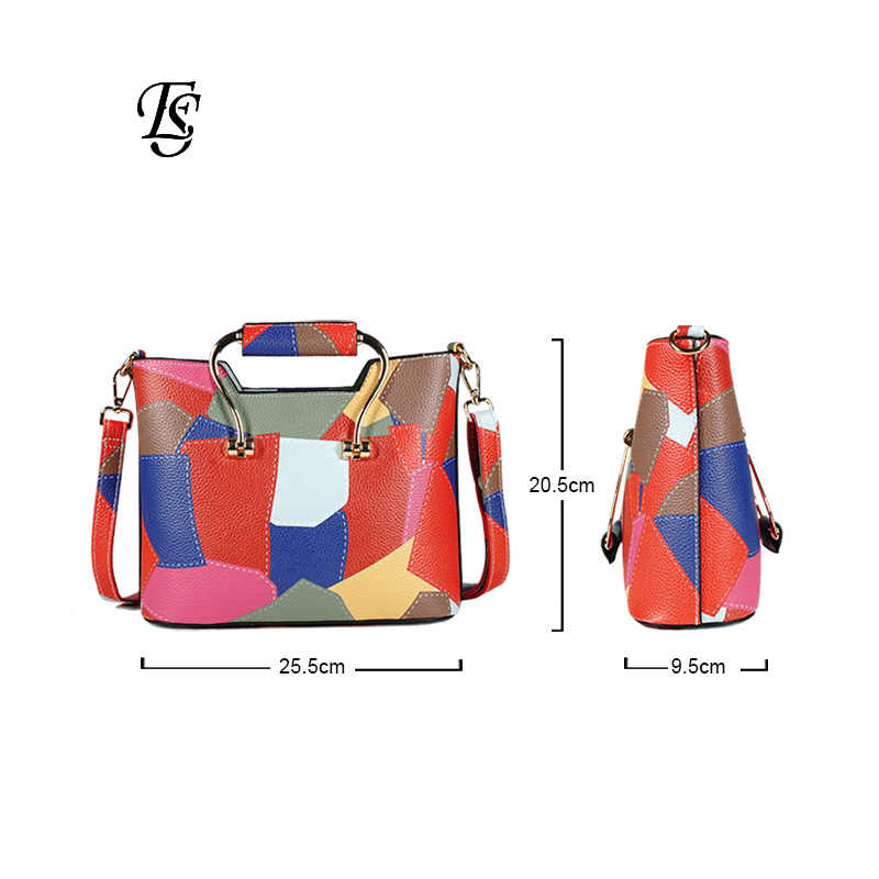 ... Patchwork Shoulder Bags Womens 2018 New Fashion Casual PU Leather  Shoulder Bag Flap Colorful Small Crossbody ... 5ca9f19317ebf