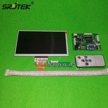 Cheapest prices Srjtek For INNOLUX 7.0″ inch Raspberry Pi LCD Display Screen TFT LCD Monitor AT070TN90 + Kit HDMI VGA Input Driver Board
