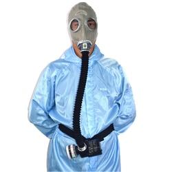 Respiratore circolatore d'aria aria di alimentazione elettrica militare maschera antigas con no. 3 tubo di carbonio 0.5 m ricaricabile ventilatore per organico gas