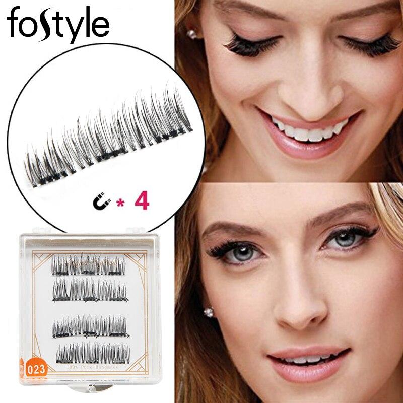 eyelashes extension lashes 3d Magnetic Eyelash False Eyelashes wave 3 Magnet Full Strip Magnetic mint Lashes Fake Eye Lashes set