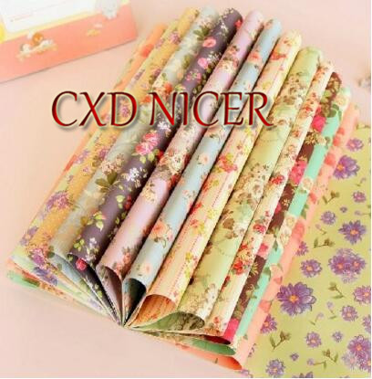 Christmas Personalized Packaging Material Gift Paper Wrapping Paper Printing floral scrapbooking paper 30.4*22.5cm J53