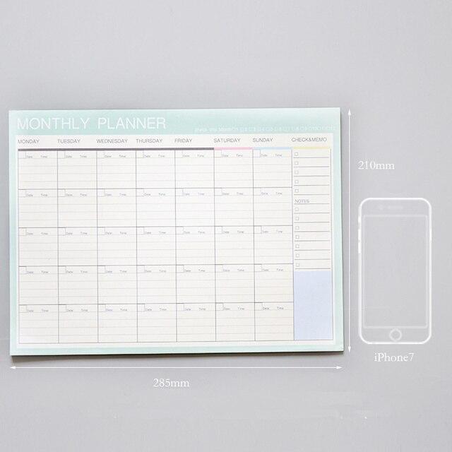 2019 2020 Notebook kawaii Daily Weekly Monthly Yearly Calendar Planner Agenda Schedule organizer journal book school A4 Flower 4
