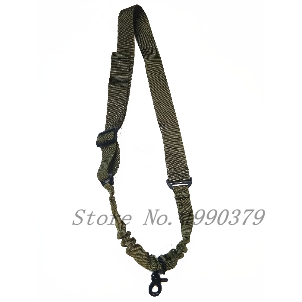 Image 5 - Tactical One Single Point Bungee Rifle Gun Sling Strap Airsoft Military Hunting System Universal Strap Heavy Duty-in Hunting Gun Accessories from Sports & Entertainment