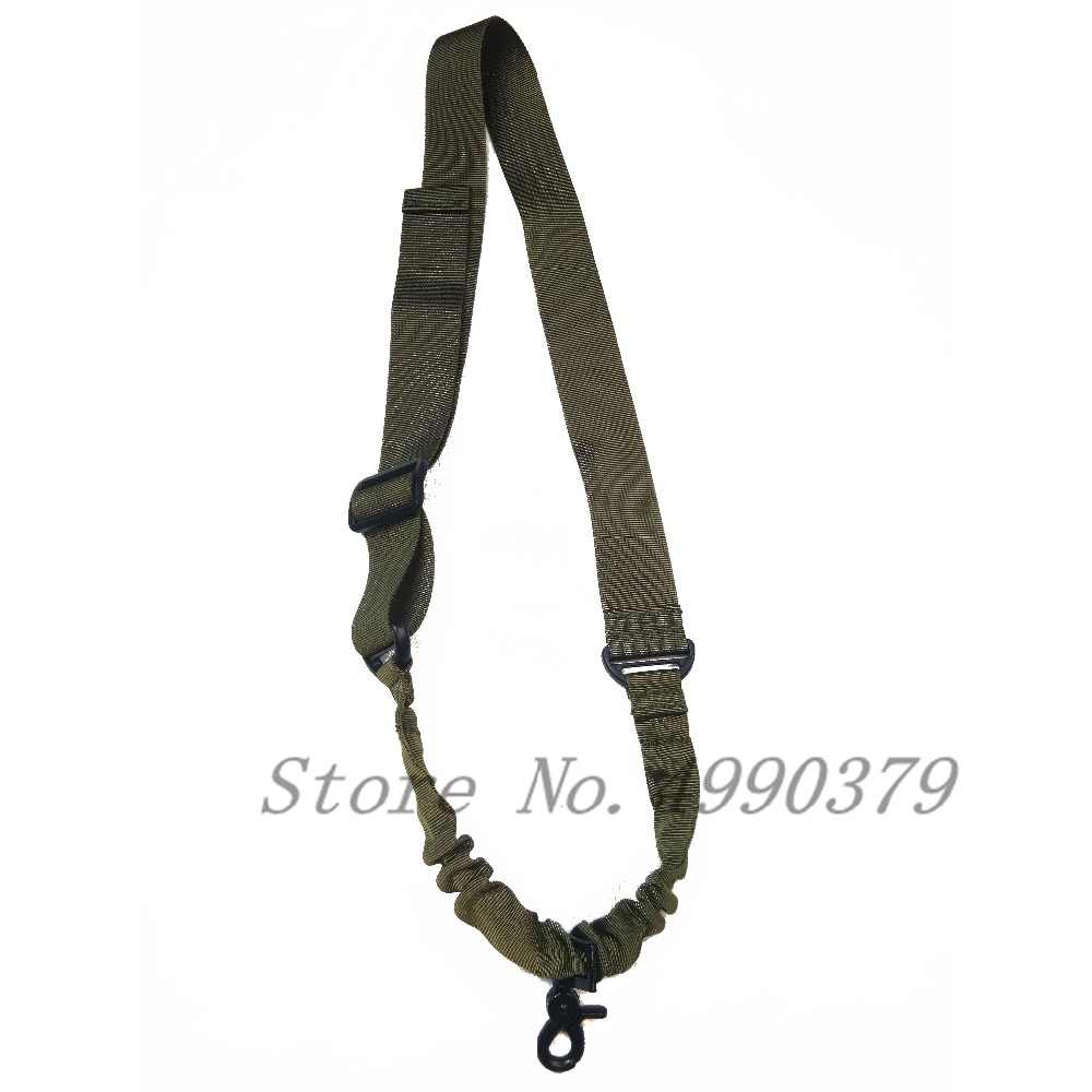 Single 1 Point Bungee Rifle Gun Sling Strap System Gun Sling for Airsoft Hunting