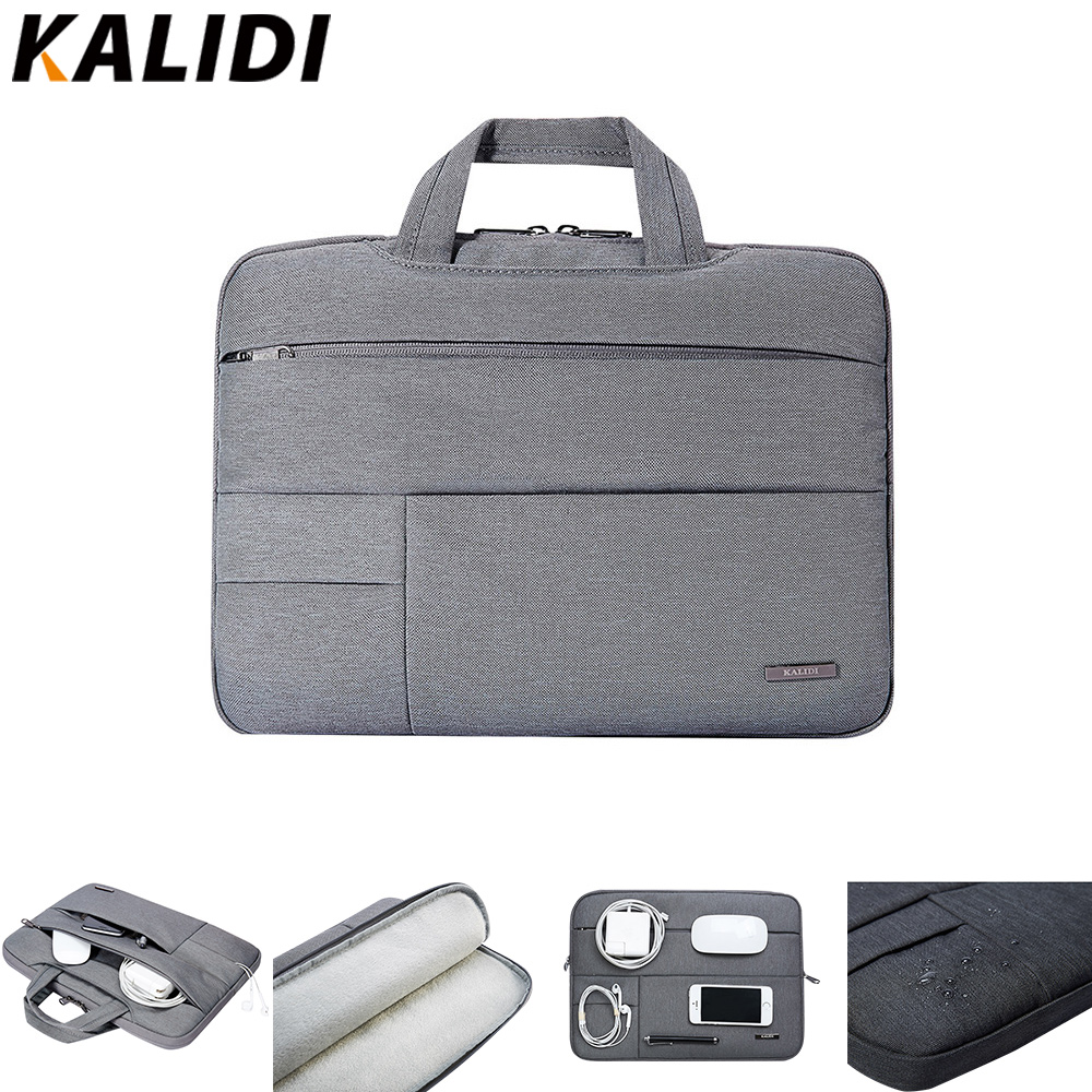 KALIDI Laptop Bag Sleeve 13.3 14 15 15.6 Polegada Notebook Bag Para Macbook Air Pro 11 13 15 Dell Asus HP Acer Laptop Caso À Prova D 'Água