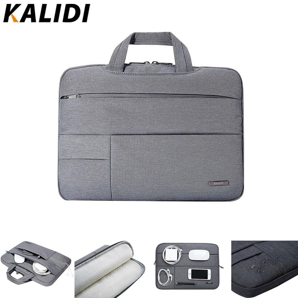 9bcae6091006a KALIDI laptop çantası Kollu 13.3 14 15 15.6 Inç Dizüstü macbook çantası  Hava Pro 11 13 15 Dell Asus, HP acer dizüstü bilgisayar Durumda su geçirmez