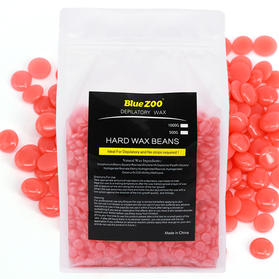 New 1000g Strawberry flavor Hair Removal Cream No Strip Depilatory Hot Film Hard Wax Pellet Waxing Bikini Hair Removal Bean 5 10 pcs pack hot roller depilatory wax hard wax pellet lavender bikini wax bean hair removal sent by random color
