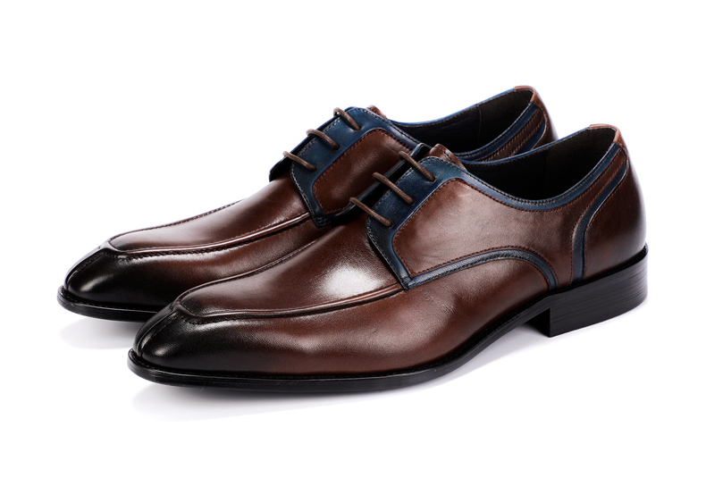 Men's Casual Shoe Business Mens Genuine Leather Shoes Men Big Size 45 Casual Leather Oxford Shoes For Men Lace Up Brogues Formal (3)