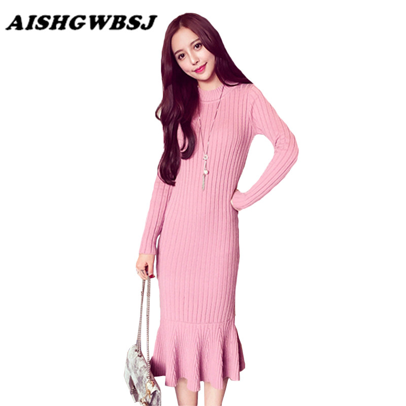 Popular Pink Sweater Dress-Buy Cheap Pink Sweater Dress lots from ...