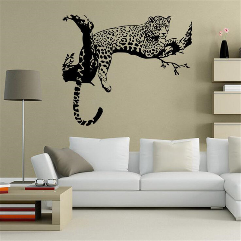 IDFIAF Wall Decal Stickers Home Decor Animal PVC Vinyl Paster Removable Art  Mural Leopard Print Carve Part 19