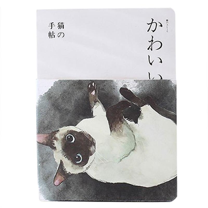 все цены на New Blank Vintage Sketchbook Diary Drawing Painting 80 sheet Cute Cat Notebook paper Sketch Book Office School Supplie Gift Siam онлайн