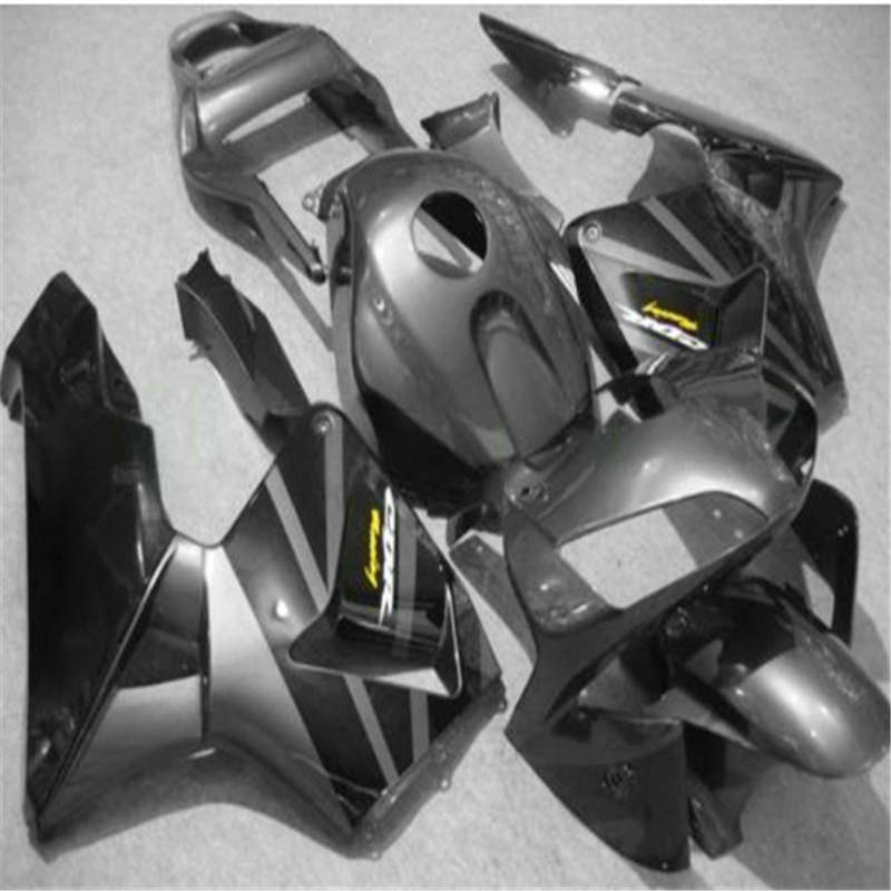 Dor grey Black Full Fairing KIT For CBR600RR 03 04 CBR 600RR CBR600 RR 2003 2004 2003 2004 ABS Plastic