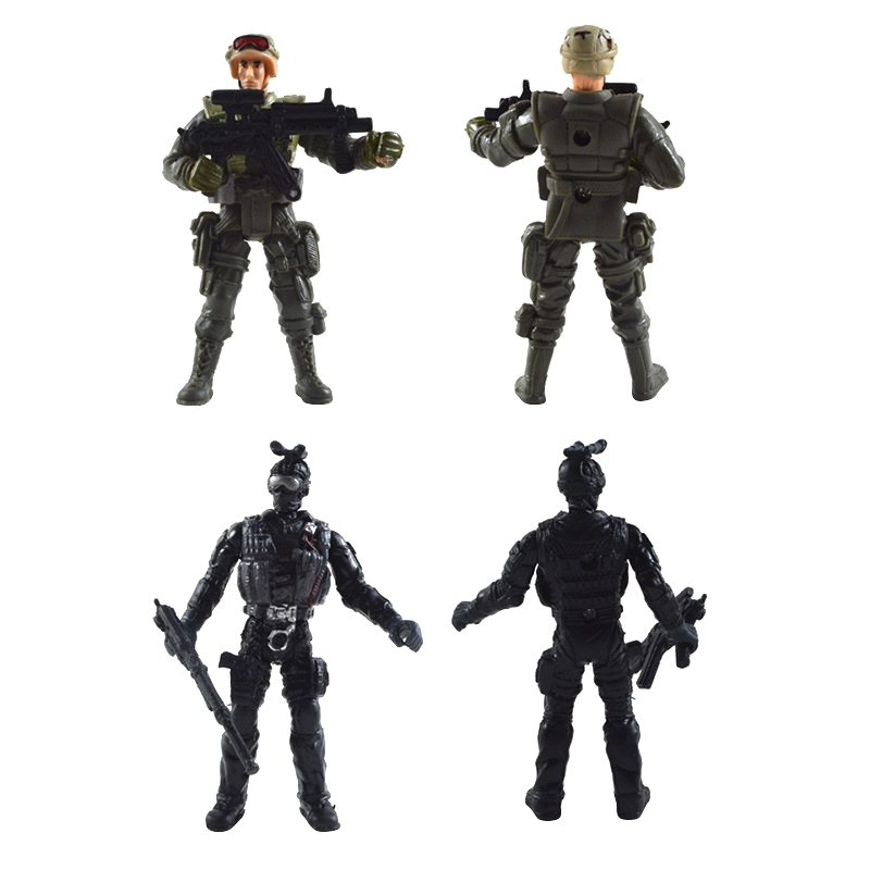 6PCS Cool Military Model With Joint Movable Soldier 6PCS Fashion Baby Toys Kids Can Get Fun Of it