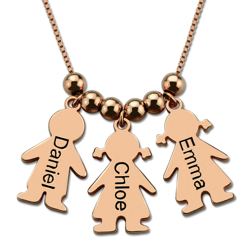 Women Custom Name Necklace Silver Rose Gold Engraved Kid Charms Necklaces Costume Girl Boy Charm Choker Mom Gift Stranger Things цены онлайн