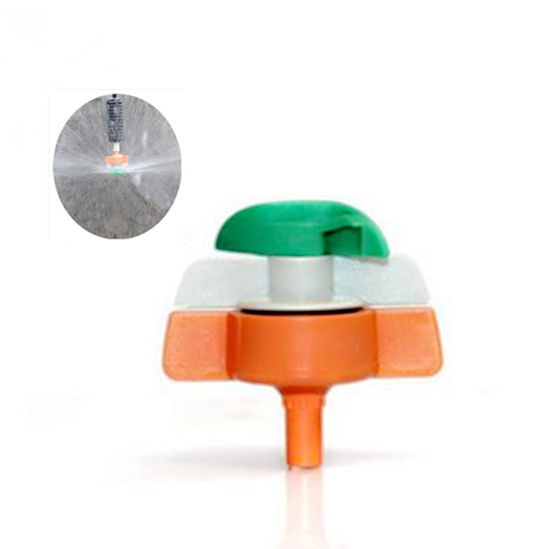 100pcs pack Rotary Sprinkler Hanging Micro Sprayer Greenhouse Cooling Atomized Spray Irrigation Gardening Micro Drip M131