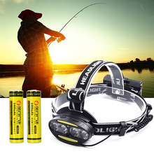 Head Lamp Fishing 4*T6 2*COB LED Headlamp Headlight Flashlight Lantern Sensor 50000lm 18650 Rechargeable USB Torch Hunting Light
