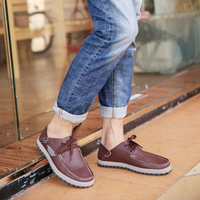 New Fashion Lace Up/Slip On Men Casual Shoes 6 Seasons Wear Low Top Soft Comfortable Real Cow Leather Mens XIU XIAN Shoes