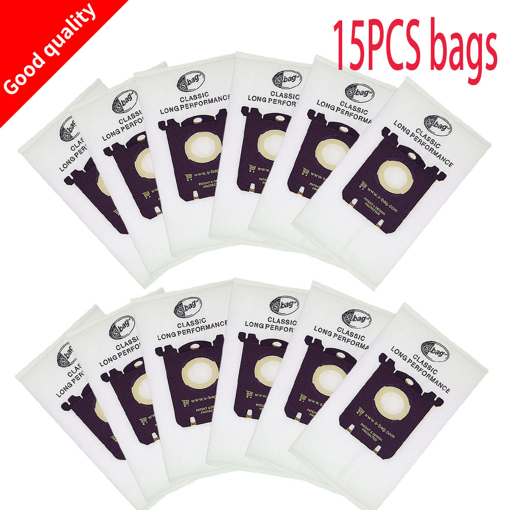 15pc aspirateur sac sac à poussière blanc pour Electrolux Philip FC8208 FC8220 FC9088 HR8360 Tornado aspirateur filtre et S-BAG
