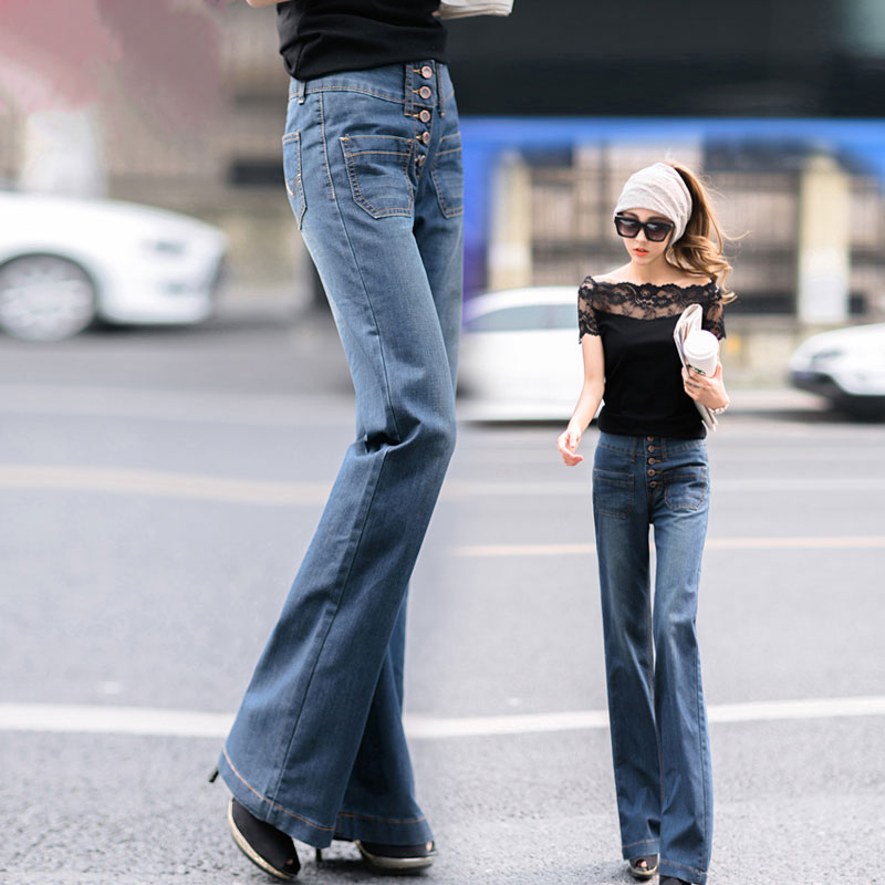 2017 New Women Wide Leg Pants Retro Slim Loose Autumn Winter Female Jeans Plus Size Straight Trousers Fashion Chic MK0069 шапки yerse шапка
