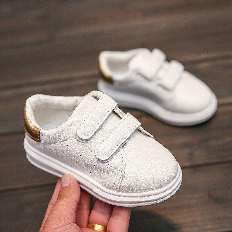 2018 autumn new fashion gold leather PU waterproof high quality black children children shoes shoes children leisure children
