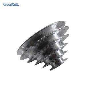 Image 2 - 5 schritte EIN Typ V Gürtel Pagode Pulley 150mm Außerhalb Durchmesser Aluminium Pulley 14/16/18/ 19/20/22/24/25/28mm Bohrung V Gürtel Pulley