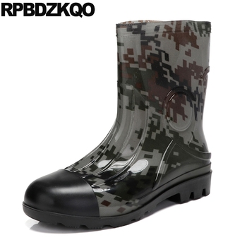Cheap Designer Ankle 2018 Camouflage Shoes Autumn Rubber Fishing Boots Men Footwear Short Rain Mid Calf Fall Waterproof Tall