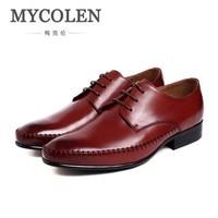 Mycolen Элитный бренд мужские лоферы кожи мужская обувь в деловом стиле Бизнес костюм галстук автомобиль шва низкие мужские модельные туфли