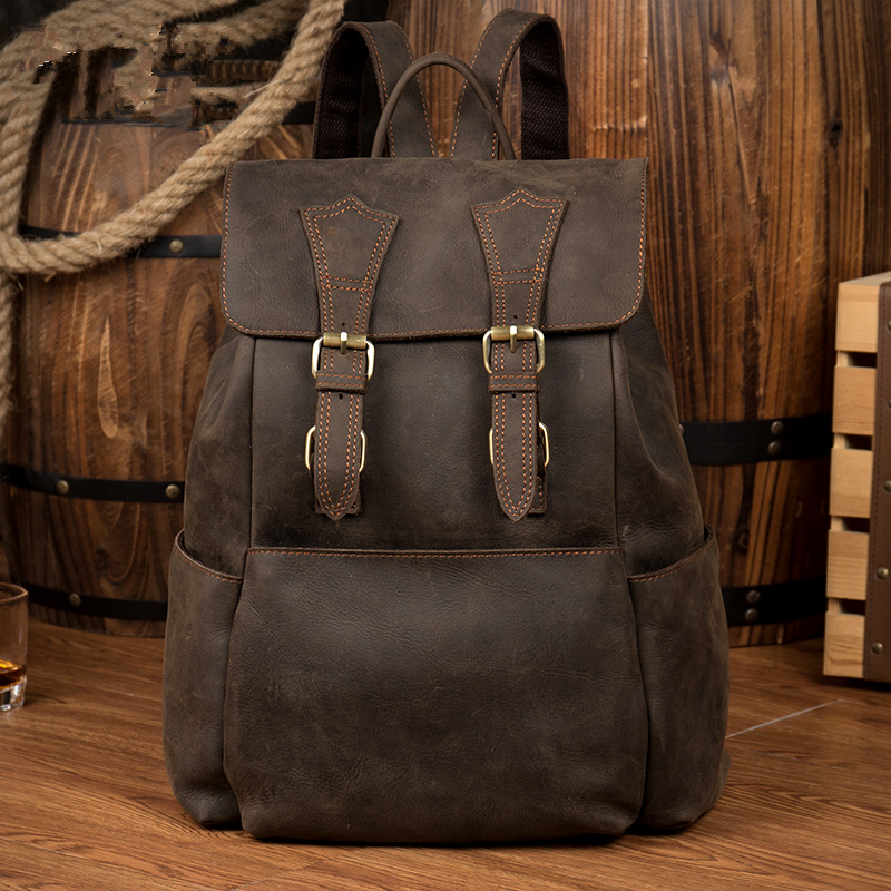 brand genuine leather backpacks men women lovers school bag brand designer student backpack men vintage handmade book bag bolso 1pc 16mm panel hole metal button switch with led 12v 24v power push button indication car dash latching self locking on off