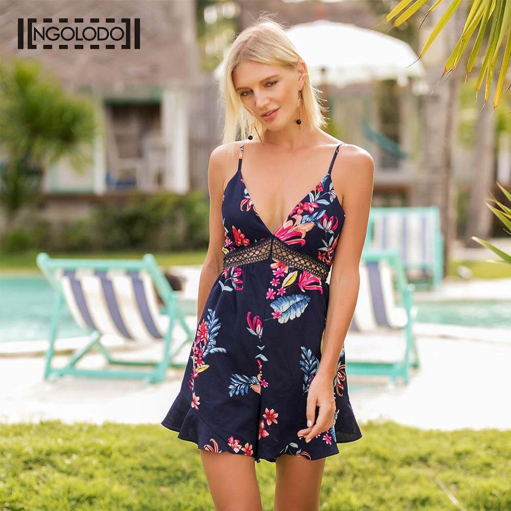 077e1cbee3a197 Ngolodo strap neck navy floral print mini dress women casual jpg 1000x1000  Navy casual neck sleeveless
