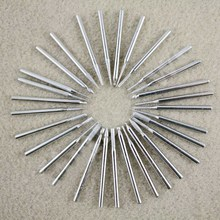 High Quality 30pcs 3mm Cylinder Diamond Burrs Bits Coated For Rotary Drills Tools Power Tools