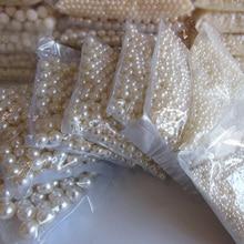 500g marfil tinte recta agujero círculo de la originalidad DIY trabajo hecho a mano de alta teléfono belleza esencial 3mm de perlas de imitación al por mayor 20mm