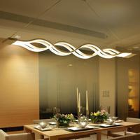 Modern LED chandeliers wave pendant led light 40W/80W led suspending lamp fixture for Dining room Living room hanging light