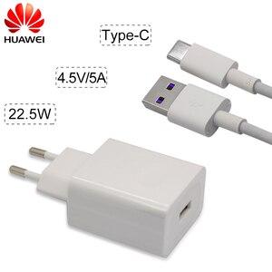 Image 2 - HUAWEI Schnelle Ladegerät Für Taube 9 10 Pro P10 Plus Aufzurüsten Schnell Reise Wand Adapter 4.5V5A/5V4. 5A Typ C 3,0 USB Kabel 1 mt