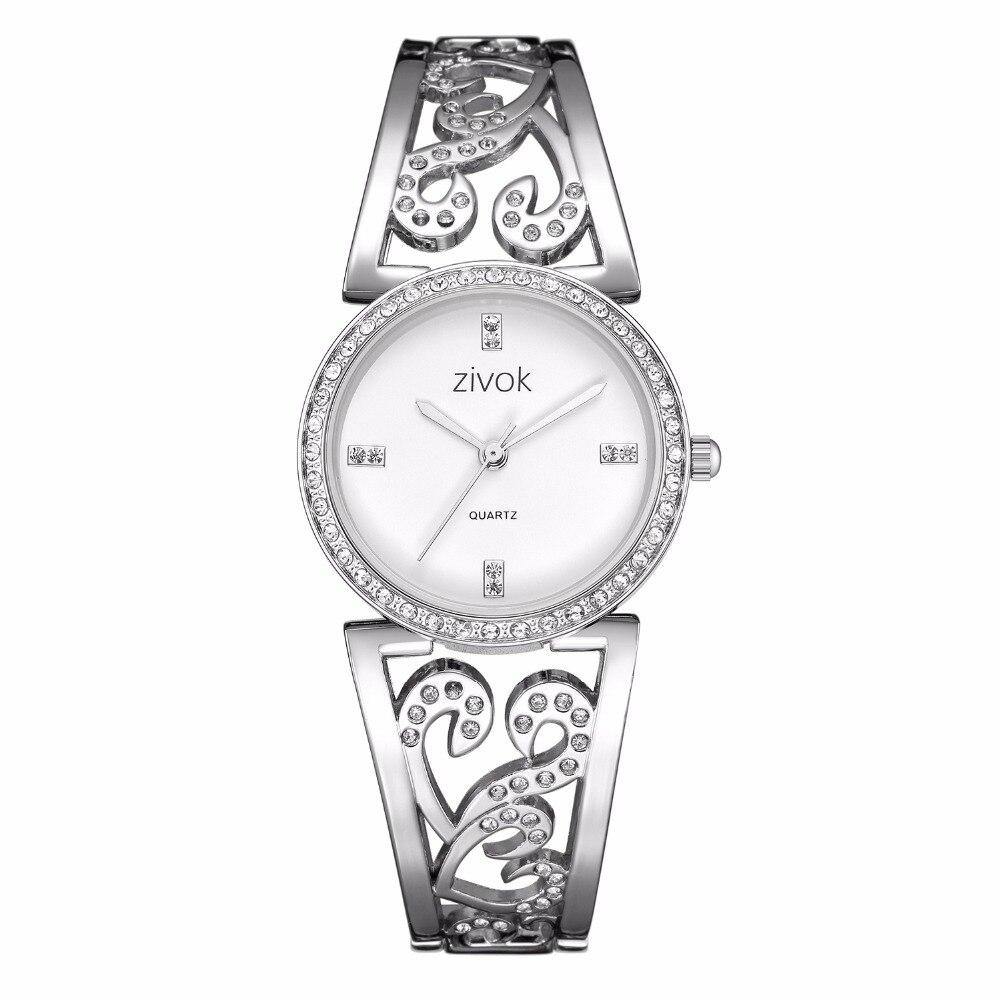 Creative zivok Women Bracelet Watch Fashion Brand Lovers Quartz Wrist Watches Women Clock Relogio Feminino xfcs Reloj Mujer все цены