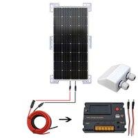 150 Вт монокристаллический Солнечный комплект и крепления 20светодиодный светодиодный умный контроллер солнечной энергии система Солнечная