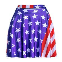 American Flag Women Sexy Pleated Skirts Tennis Bowling Bust Shorts Skirts Streak Stars Female Fitness Sport Apparel A Style