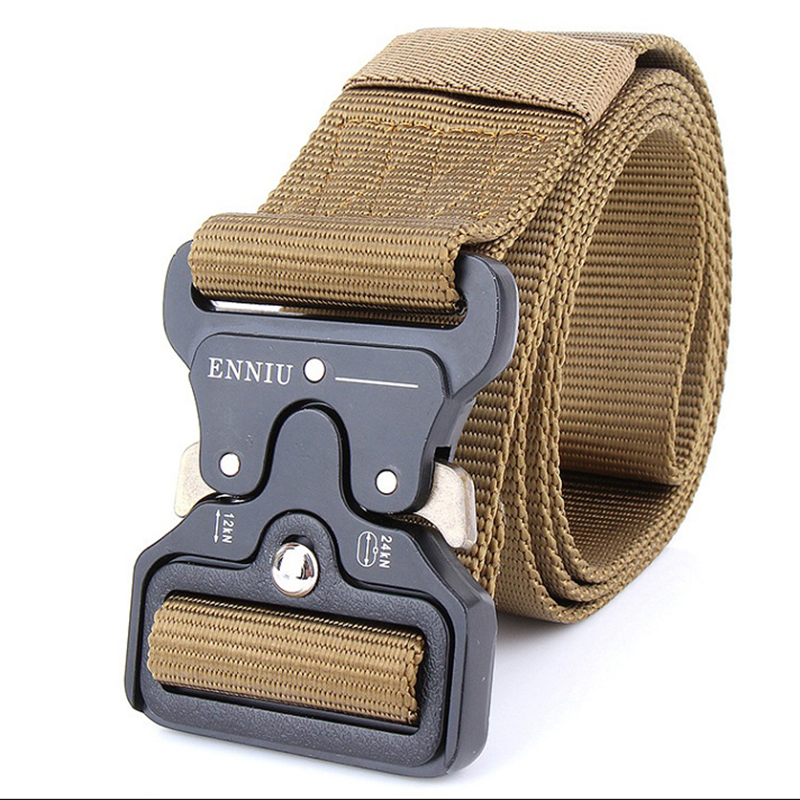 Tactical-Belts Metal-Buckle Hunting-Accessories Military Nylon With Adjustable Heavy-Duty