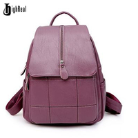 HIGHREAL Women S Backpacks Genuine Leather Students School Bags Teenagers Girls Small Backpacks Women Travel Bag