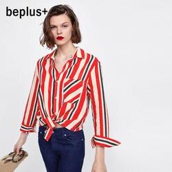 Эйлин Elisa модная Элегантная блузка Для женщин Большие футболки топы Свободные 2018 Новый Повседневное более Размеры d блузки
