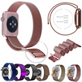 GOOSUU 8Color Rose Gold Silver Milanese Loop band & Link Bracelet Stainless steel strap for apple watch 38mm 42mm Watchband