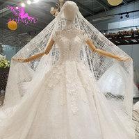 AIJINGYU мусульманская свадебная фата простой белый кружево и тюль Плюс размеры с Королевский средневековый Довольно Свадебные платья рукавам