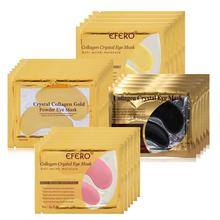 10pcs=5pair  High quality Gold Crystal collagen Eye Mask Hotsale eye patches