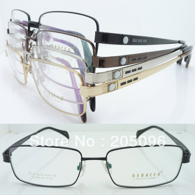 03912ebbb52 Wholesale R6302 businessman big size full-rim nickel silver designer square  metal optical frames free shipping